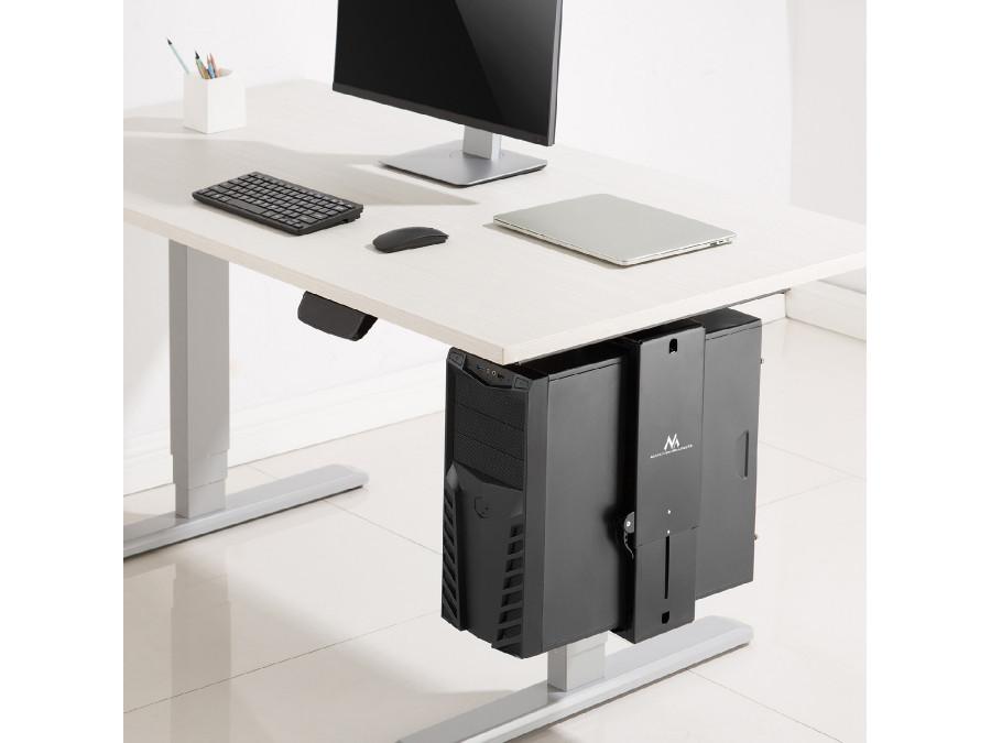 Stolní držák na PC, přizpůsobí se velikosti skříně, otočný, nosnost 10kg, TOP kvalita - Fiber Mounts M8C85