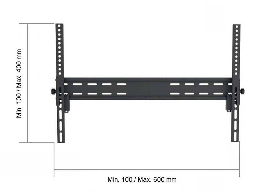 Sklopný držák Tv, nosnost 45kg, VESA, ocelový Fiber Mounts FM900