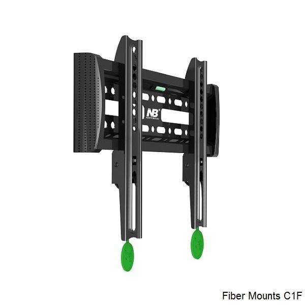 Kvalitní ocelový držák pro fixní zavěšení televizorů a monitorů s úhlopříčkou 22 až 39 palců - Fiber Mounts C1F