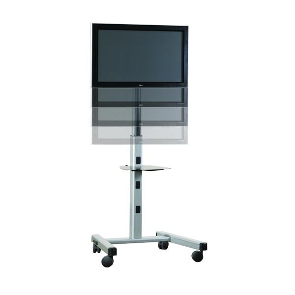Profesionální televizní stojan, špičkový pomocník pro Vaši prezentaci, výstavu nebo konferenci. Snadné nastavení výšky a sklonu obrazovky, systém vedení kabeláže, pojezd s brzdou, snadná manipulace. Nosnos 56kg, podpora VESA standardu, barva stříbrná - stojan CHIEF MFCUS