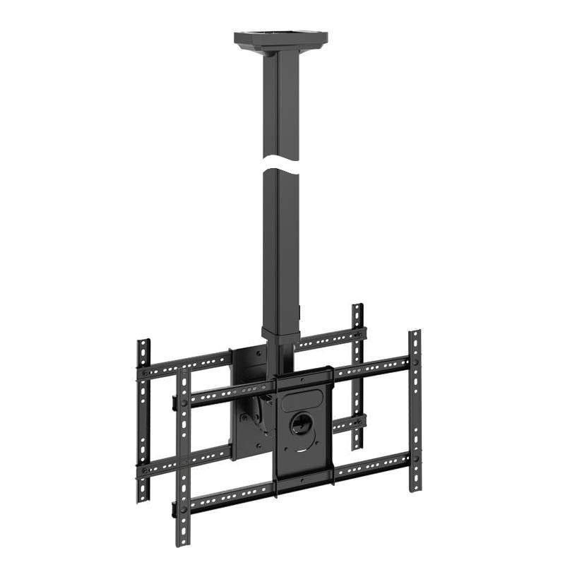 Profesionální stropní držák na 2 televizory s úhl. 32-65 palců, nastavitelná délka držáku, náklon, otáčení do stran, korekce roviny. TOP kvalita a design - Fiber Mounts T6030B