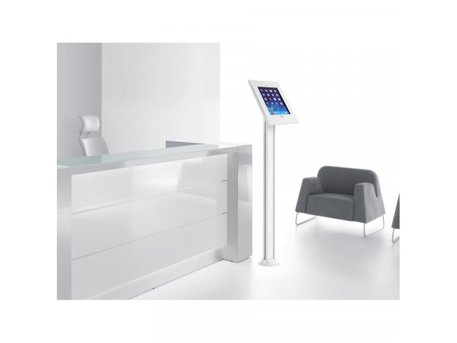Podlahový stojan na tablet nebo iPad s uzamykatelnou poličkou, nutné ukotvení do podlahy - Fiber Mounts M6C78
