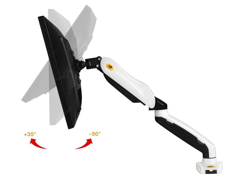 Stolní držák na PC monitor Fiber Novelty F80W v bílém provedení