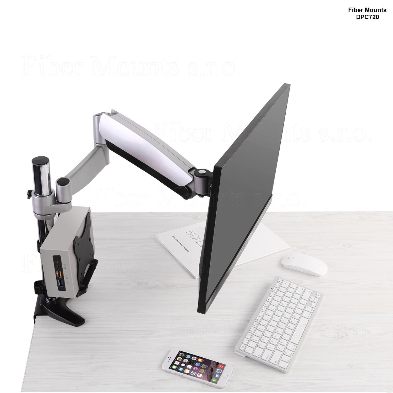 Držák Intel NUC, MAC Mini CPU apod, uchycení na tyč o průměru až 55mm - Fiber Mounts DPC720