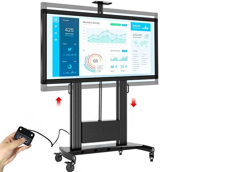 Profesionální televizní stojan na prezentace, výstavy, konferenční sály - motorizovaná regulace výšky - Fiber Mounts TW100