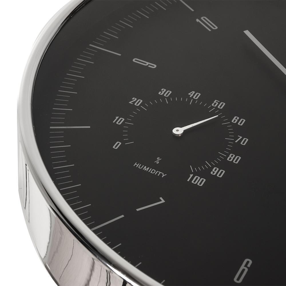 Levné krásné hodiny které netikají, plynulý chod vteřinovky, vlhkoměr, teploměr, 30cm - Fiber Mounts CE60