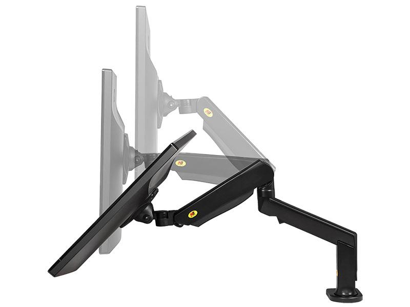 Výškově polohovatelný, otočný sklopný, délkově nastavitelný držák na televizi nebo monitor 17-32 palců, uchycení na stůl - Fiber Mounts F90A