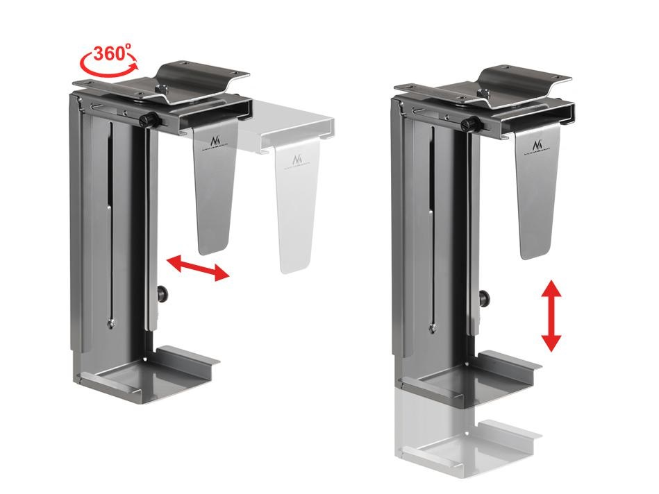 Držák na PC / počítač pro uchycení pod stůl, na bok stolu nebo na stěnu, případně na strop Fiber Mounts M7C13S