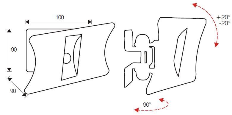 Držák monitoru i Tv OMB Monosolution v bílém provedení, držák podporuje VESA standardy