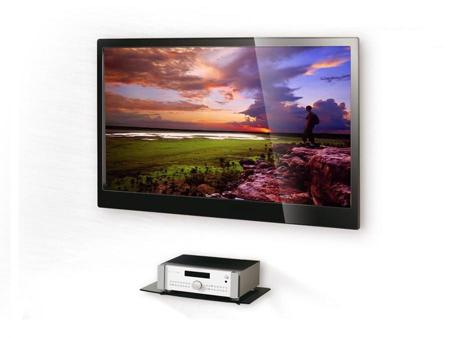 Kvalitní velmi pěkná nástěnná polička na stěnu, např. pod Tv - Fiber Mounts NICE629