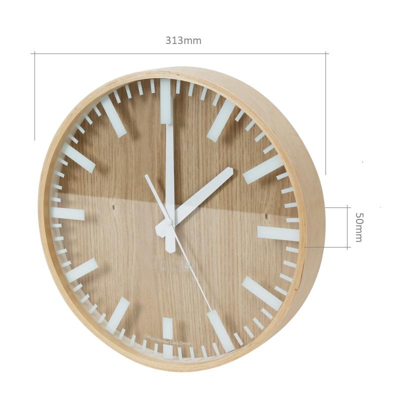 Nástěnné designové interiérové dřevěné hodiny Yesterday