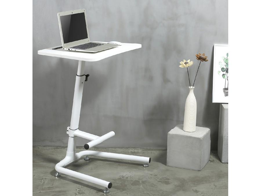 Stolek na notebook, laptop, iPad nebo tablet. Výškové nastavení, snadná změna práce vsedě na práci vestoje, podnož, pevná konstrukce, stabilita a spolehlivost - Fiber Mounts M8C49