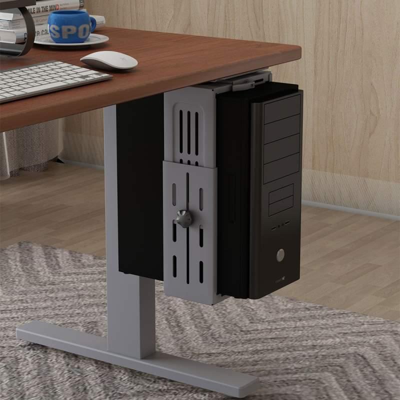 Profesionální držák na PC tower, uchycení pod stolovou desku, polici, na stěnu - Fiber Novelty PC2W