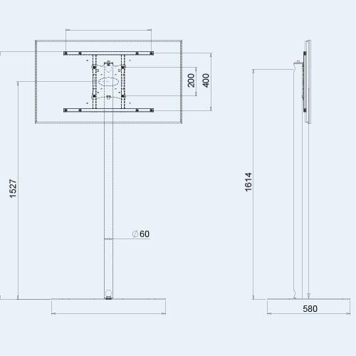 Chromový televizní stojan stolek OMB Stand C1650