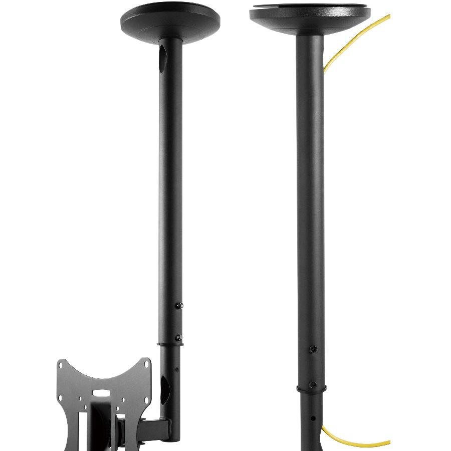 Stropní držák na televize a monitory, otočný, sklopný, délkově nastavitelný, systém vedení kabeláže - Fiber Mounts BAT01