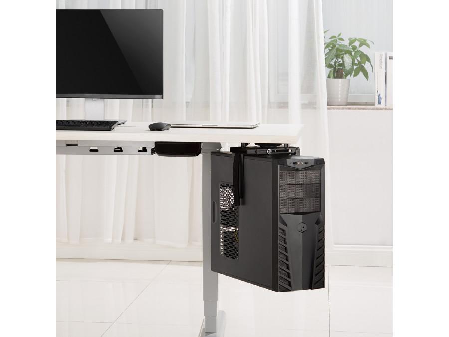 Držák na pc, uchycení pod stolovou desku, otočný, nosnost 10kg Fiber Mounts M8C85