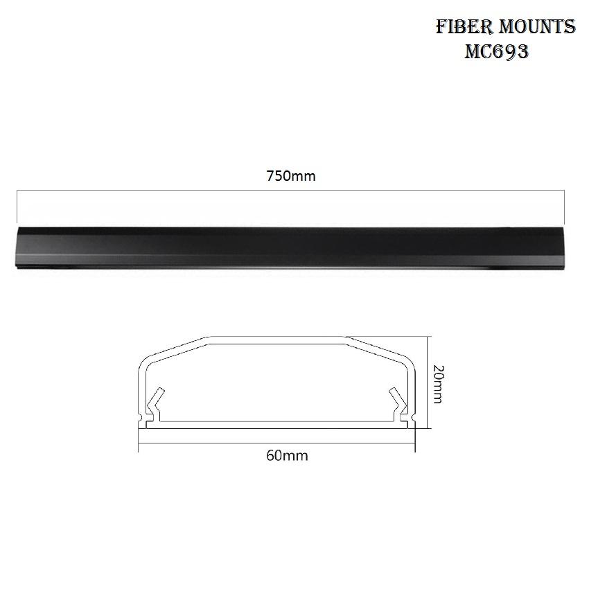 Krycí lišta na kabeláž Fiber Mounts MC693 bílá e554d3f982