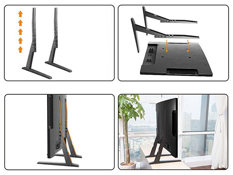 Univerzální podstava - nožky na všechny typy televizorů s podporou VESA standardu, výškové nastavení, stabilita, bezpečnost, vedení kabeláže - Fiber Novelty FN-P2