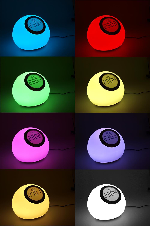 Luxusní lampička s hodinami a budíkem, dotyková - Fiber Mounts MCE114