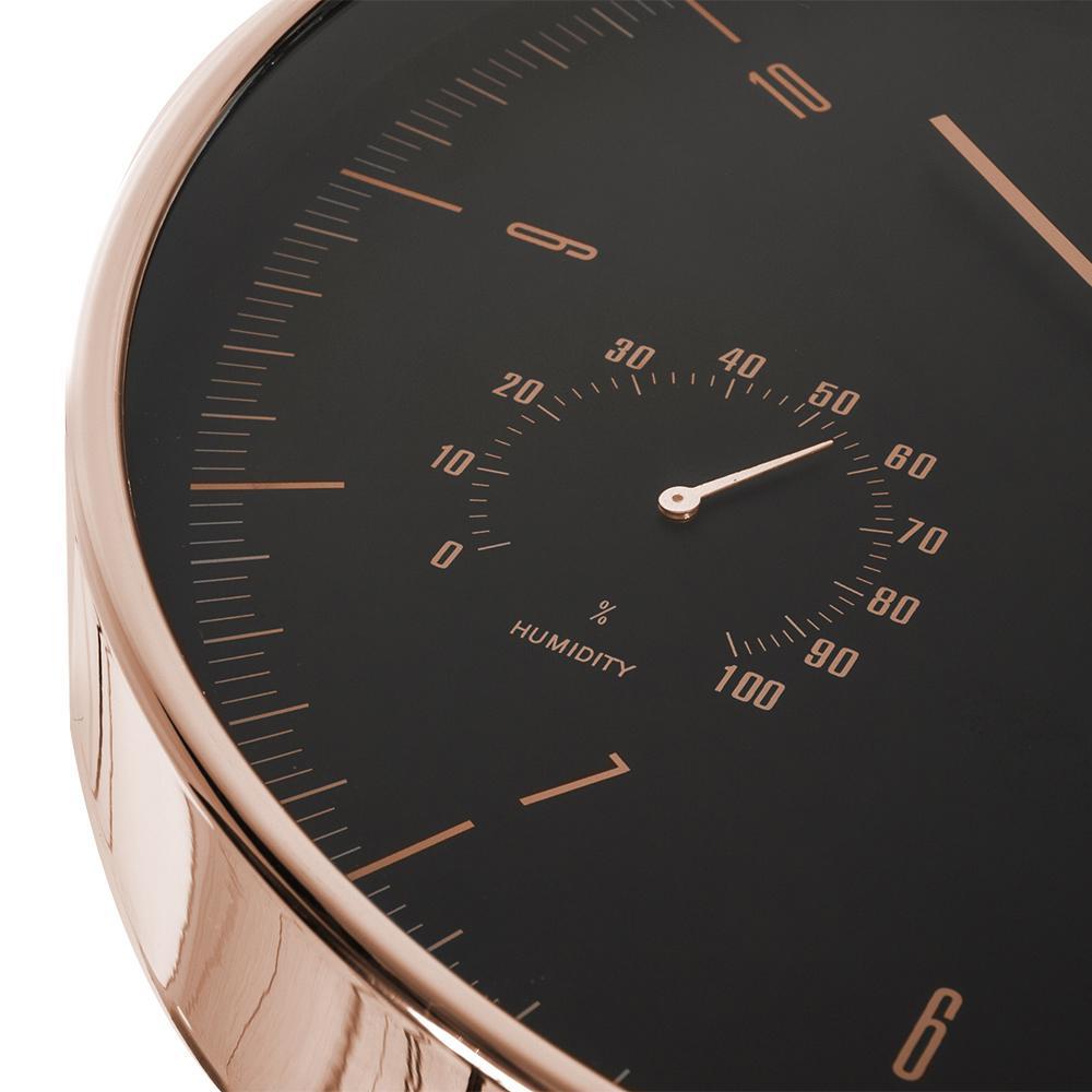 Levné krásné hodiny které netikají, plynulý chod vteřinovky, vlhkoměr, teploměr, 30cm - Fiber Mounts CE70G