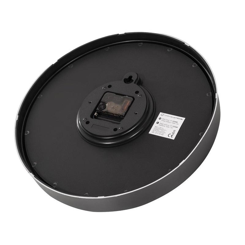 Velký ciferník o průměru 35cm, s velkými výraznými číslicemi, které jsou velmi dobře viditelné a čitelné. Originální provedení s černým lemem, fialovým pozadím a bílými ručičkami osazenými na Quartzovém strojku hodin. Hodiny Fiber Mounts CE50