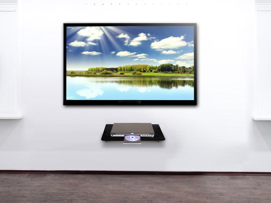 Nástěnná polička na Blue Ray přehrávače, DVD, Play Station, XBOX atp. - Fiber Mounts NICE629