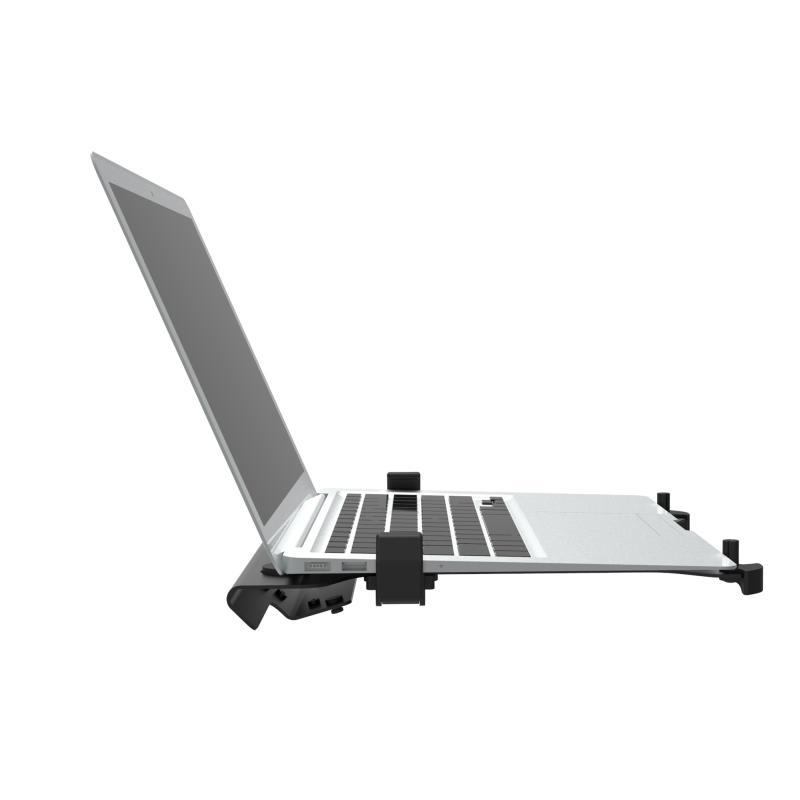 Kvalitní přídavná polička pro uchycení laptopu noteboku na stolní nebo nástěnné držáky - Ergosolid LT105
