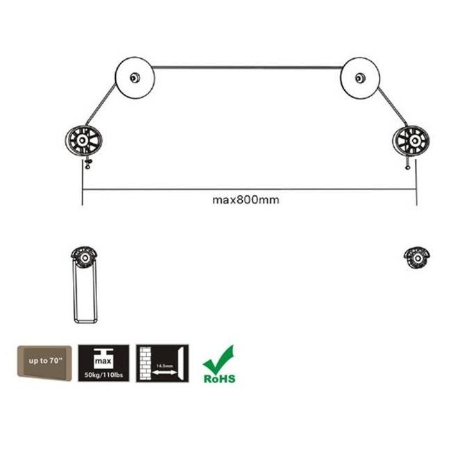 Fiber Mounts F5M57 lankový závěsný držák Tv