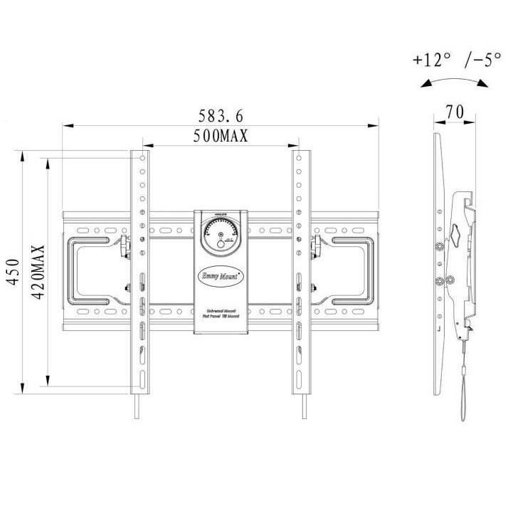 Fiber Mounts DF70T sklápěcí a výškově nastavitelný držák na Tv