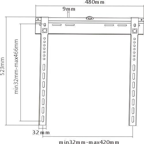 Fiber Mounts THIN 9 je nejtenčí držák na televize, který má vzdálenost od zdi jen 9mm, pevnou ocelovou konstrukci s nosností 55kg