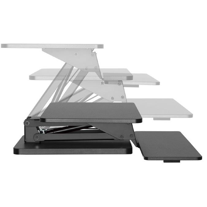 Sit-stand pracovní stanice na monitor, notebook nebo laptop a klávesnici Fiber Mounts M8C82