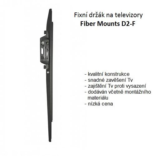 Tenký držák na televizi Fiber Mounts D2-F