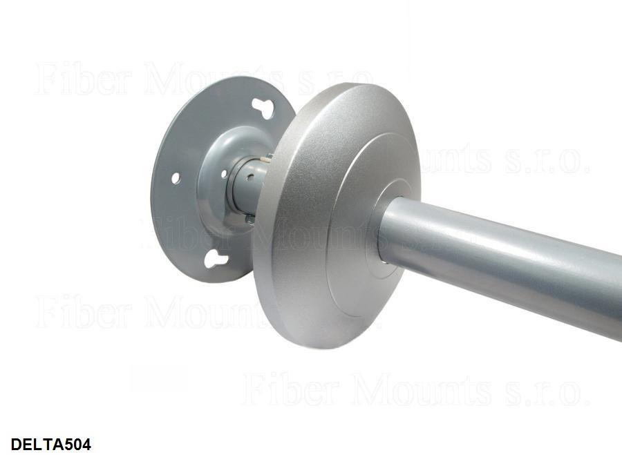 Úchyt držáku do stropu včetně krytky - Fiber Mounts DELTA504 stříbrný