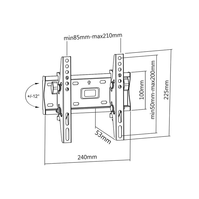 Držák na televize i monitory s naklápěním Fiber Mounts M6C67