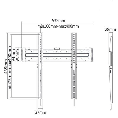 """Levný nástěnný držák pro fixní zavěšení Tv 32-55"""" - Fiber Mounts M6C43"""