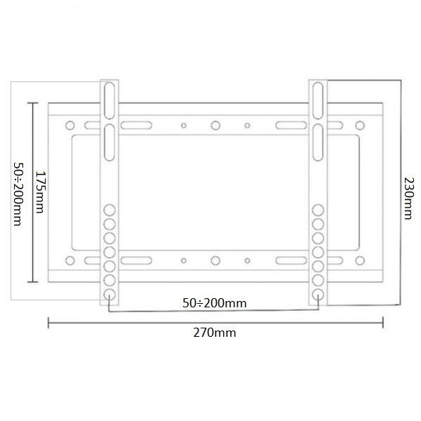 Fiber Mounts M6C98 je kvalitní cenově dostupný nástěnný držák pro fixní zavěšení televizí a monitorů s úhlopříčkou 17-37 palců