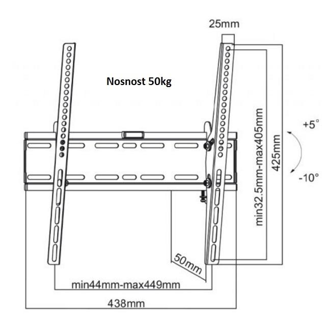 """Fiber Mounts M7C16 je kvalitní ocelový držák na televize 32-55"""" s možností naklápění"""