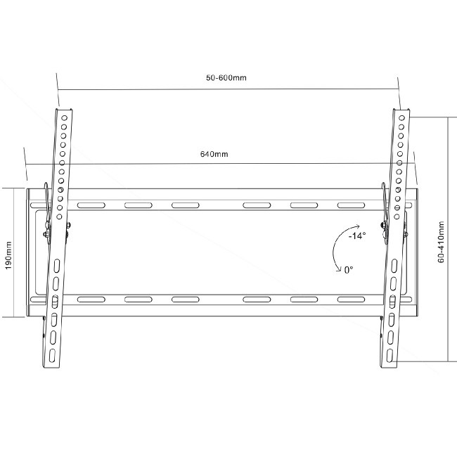 Sklápěcí držák pro zavěšení Tv 37-70 palců Fiber Mounts M6C05