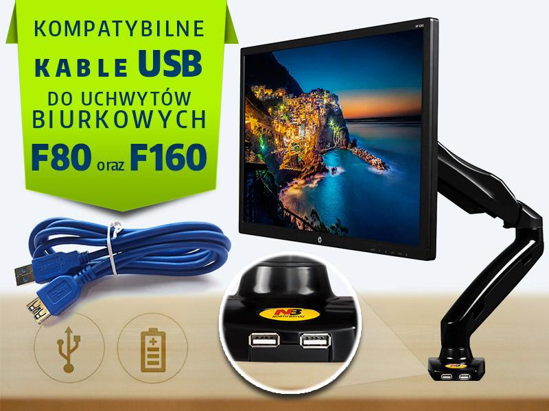 Prodlužovací kabel USB 3.0 v délce 160cm, ideální pro zapojení USB portů na stolních držácích monitorů - USB 3.0 typ AA / drzakyastolky.cz