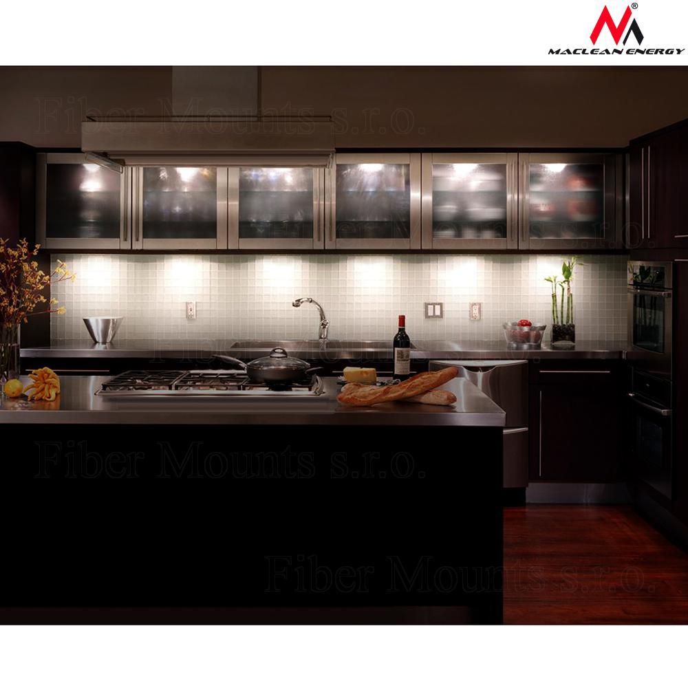 Sada 6ks LED světel o průměru 90mm, univerzální využití, dálkové ovládání, možnost osvětlení kuchyňské linky - Maclean Energy MCE165 / drzakyastolky.cz