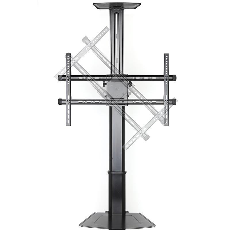 Televizní stojan s funkcí PIVOT pro nastavení obrazovky jak do klasické polohy na šířku (horizontálně), tak i otočení do polohy na výšku (vertikálně), navíc je možné obrazovku i naklonit směrem dolů nebo nahoru - Fiber Novelty FN5000