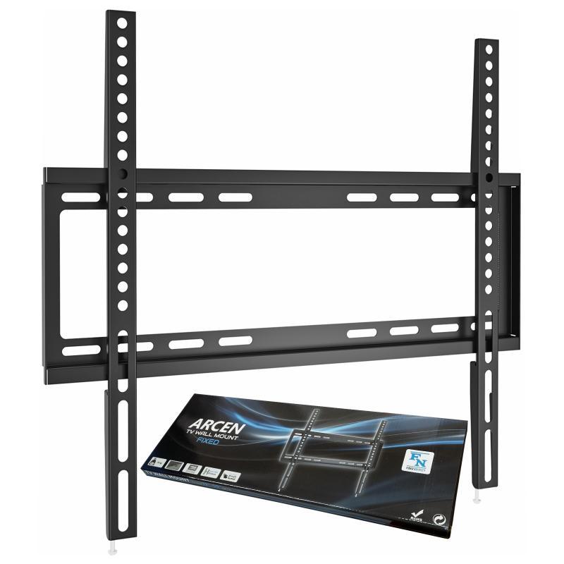 Levný kvalitní nástěnný držák pro zavěšení Tv 24-55 palců, ocelová konstrukce, odsazení od zdi 19mm, VESA standard, zajištění proti vysazení Tv, nosnost 35kg - Fiber Novelty ARCEN