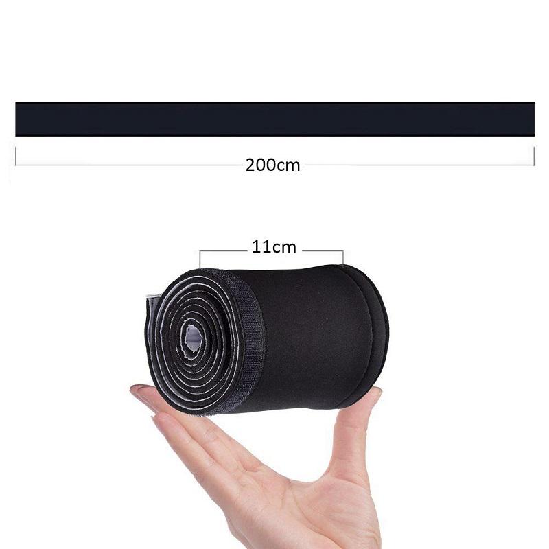 Uspořádejte si kabeláž - organizér kabeláže 200cm, šířka 11cm, neoprenový, suchý zip, barva černá i bílá / Fiber Mounts Neo672