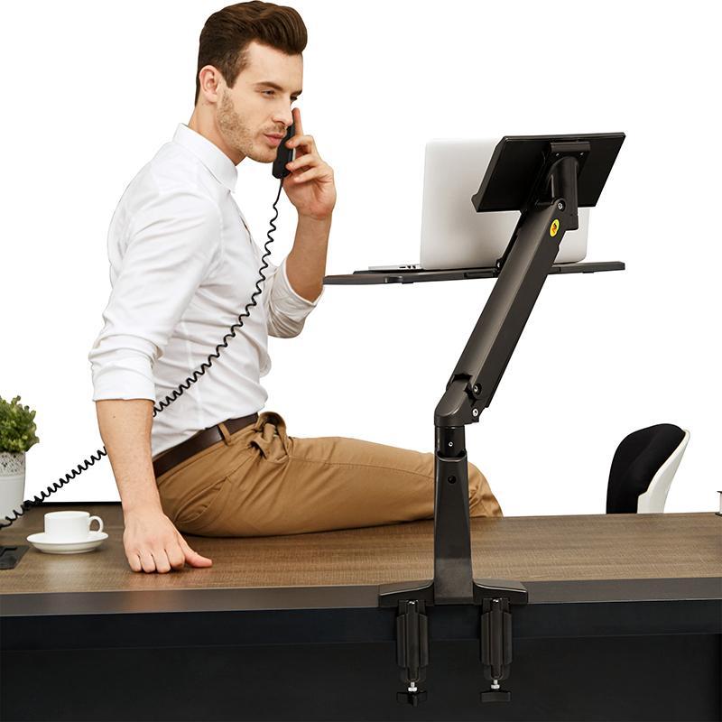 Fiber Novelty FC17: profesionální držák na notebok nebo laptop, který Vám umožní pracovat vsedě nebo vestoje - zdravý životní styl, zvýšení produktivity práce, odstranění bolesti zad, úspora místa na pracovním stole