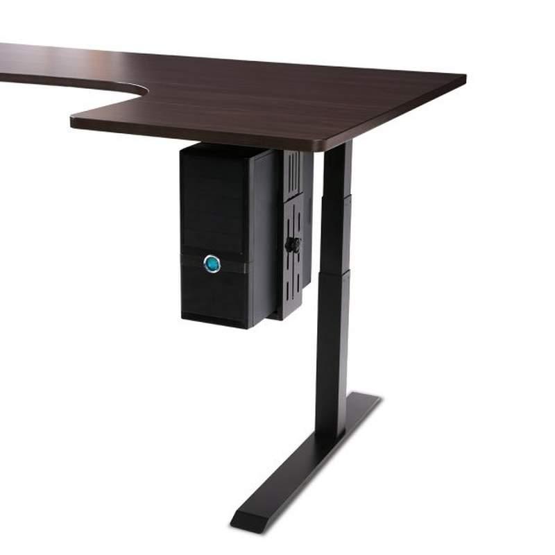 Držák na PC pod stůl, nosnost 15kg, nastavení na rozměry PC, profesionální, TOP kvalita - Mounts CH101B