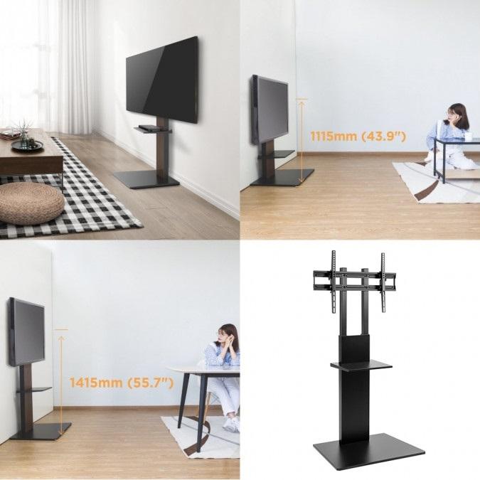 """Televizní stojan / televizní stolek s nastavitelnou výškou a náklonem Tv 43-75"""" Fiber Mounts M8C65"""