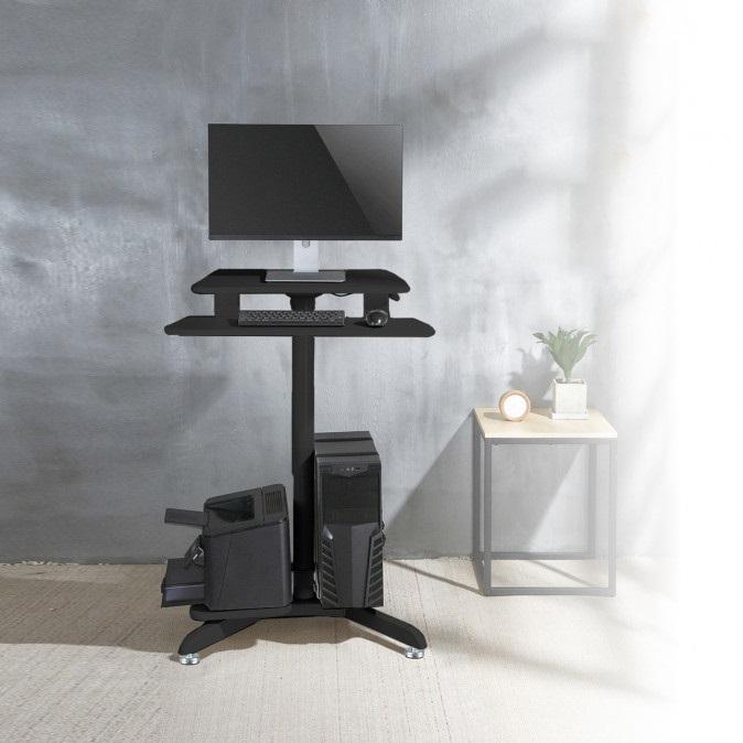 Pracovní stanice na PC, tiskárnu, klávesnici, myš a pracovní deskou na monitor. Výškové polohování pro práci v sedě nebo ve stoje. Kancelářská pracovní stanice Fiber Mounts M8C48