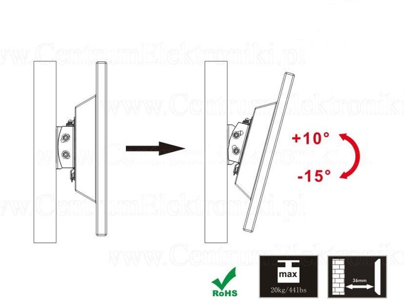 """Nástěnný sklopný držák na monitory a menší televize 13-30"""" Fiber Novelty FN203T"""