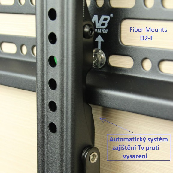 Držák pro fixní zavěšení televize na zeď - Fiber Mounts D2-F