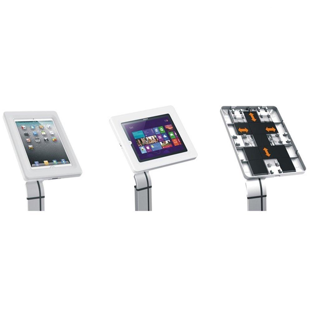 Uložení tabletu do uzamykatelné přihrádky na stojanu Fiber Mounts M6C45